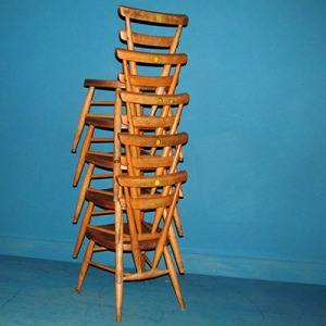 C003 Ercol Stacking School Chairs