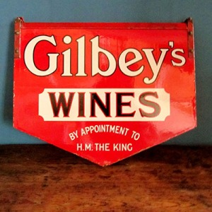 S004 Gilbe'ys Wine Sign