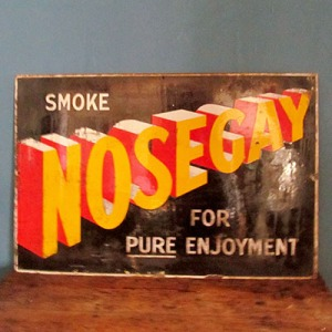 S006 Nosegay Enamel Sign