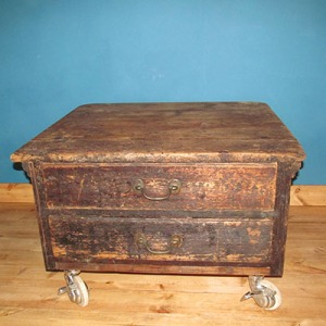 T002 Wooden Chest with drawers