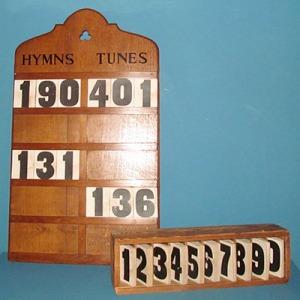E005 Hymn Board and Numbers