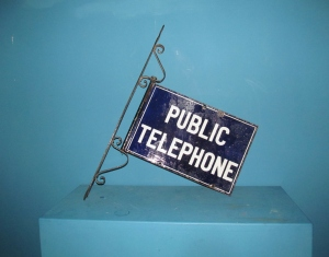 S026 Public Telephone Enamel Sign
