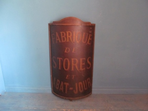 S049 French Abat Jour Sign 116.5cm h