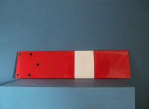 S052 Railway Signal Red & White Enamel