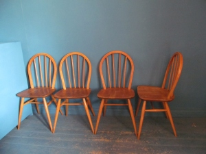 C026 4 x Ercol Windsor Chairs