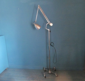 L012 Herbert Terry Trolley Light Stripped & Polished