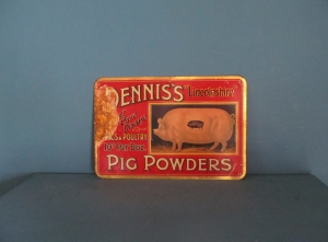 S061 Dennis Pork Butcher Tin Sign