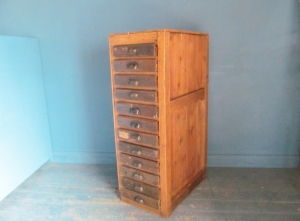 CD019 Old Wooden Filing Drawers