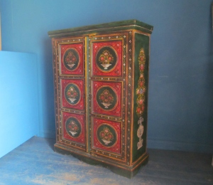 CD021 Hand Painted Tole Style Cupboard
