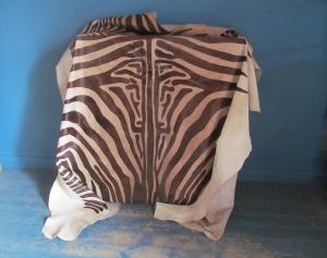 EE052 Zebra Print Cow Hide