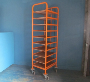 SS011 Orange Industrial Trolley