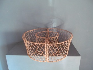 G007 Galvanised Mesh Circular Planter - two piece