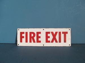 S073 Fire Exit Enamel