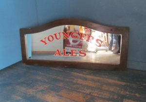 S080 Youngers Ales Oak Framed Double Sided Pub Panel