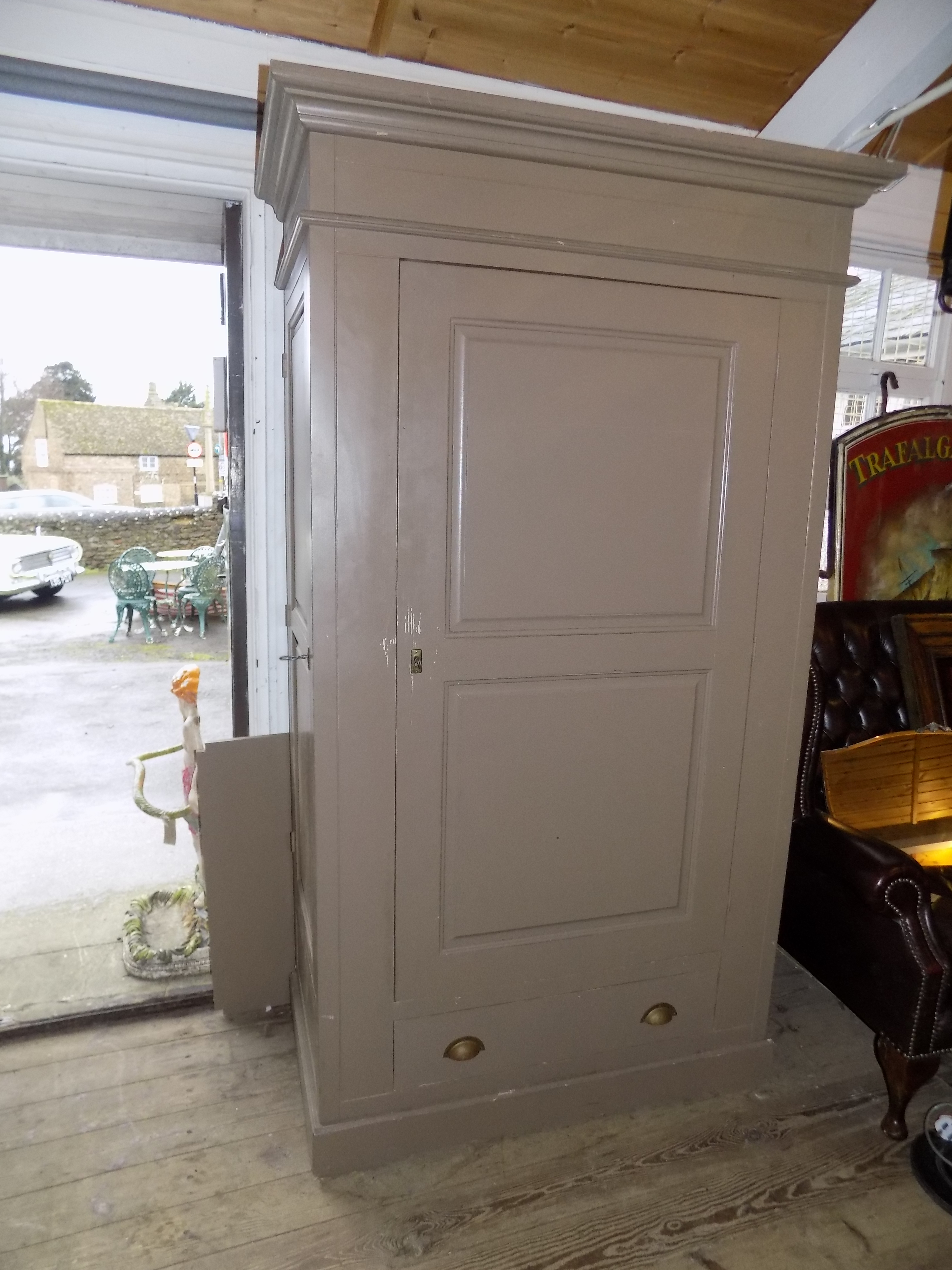 DSCN1944 & Large Larder Cupboard SOLD 3 doors all lockable side storage |